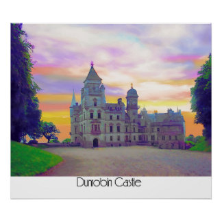 Castelo de Dunrobin Pôster