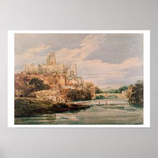 Castelo de Durham e catedral (w/c) Posters