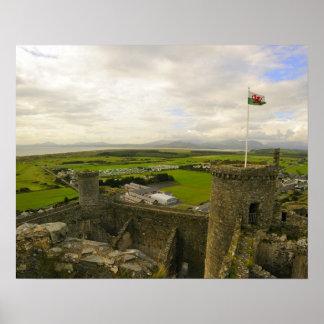 Castelo de Harlech Poster