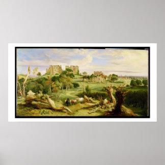Castelo de Kenilworth, Warwickshire, 1840 (óleo na Impressão