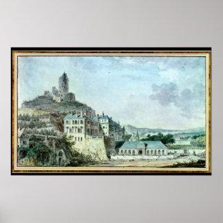 Castelo de La Roche-Guyon Impressão