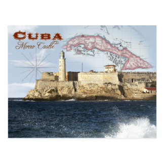 Castelo de Morro fortaleza Havana Cuba Cartão Postal