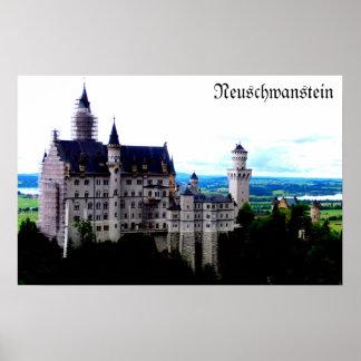 Castelo de Neuschwanstein com effet Pôster