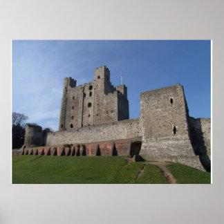 Castelo de Rochester, Kent, Inglaterra Posteres