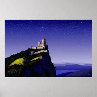 Castelo de San Marino Pôster