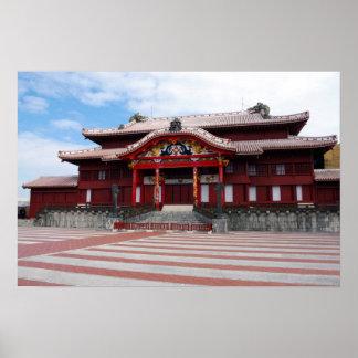 Castelo de Shuri em Okinawa, Japão Poster