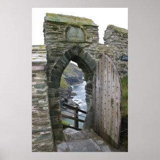 Castelo de Tintagel Poster