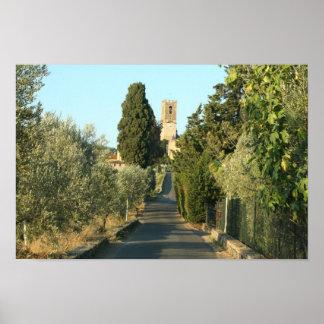 Castelo de Tuscan Posteres