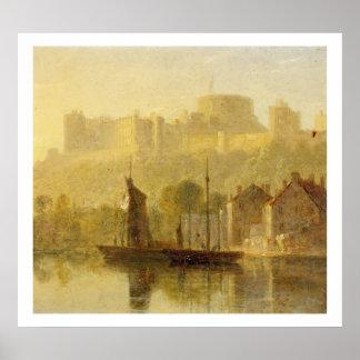 Castelo de Windsor da Tamisa (óleo no millboard) Impressão