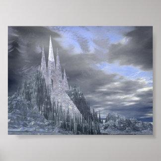 Castelo do gelo da fantasia poster