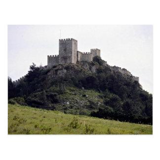 Castelo do Moorish, Sesimbra, Portugal Europa Cartao Postal
