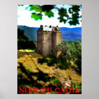 castelo do neidpath poster