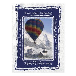 Castelo D'Oex, suiça - cartão do balão de ar