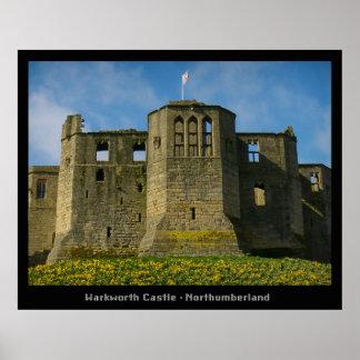 Castelo e eremitério de Warkworth Poster