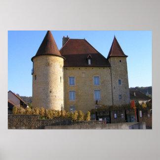 Castelo e vinhedos, Arbois Pôsteres