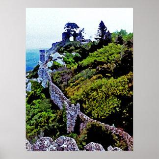 Castelo em Sintra Portugal Poster