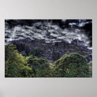 Castelo HDR de Edimburgo Poster