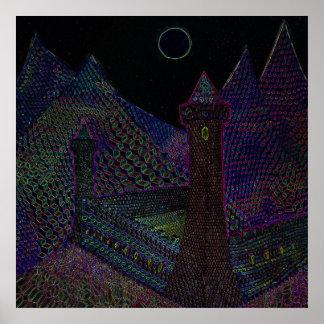 Castelo Hexagod impressão do poster de 2 pés