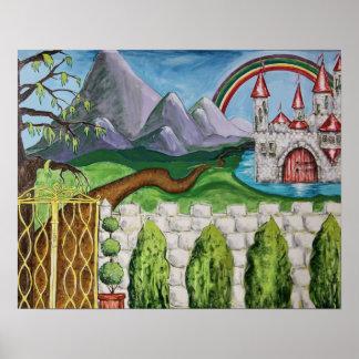 Castelo mágico impressão