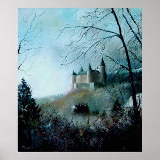 castelo medieval de Veves Bélgica Poster