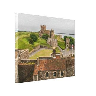 Castelo medieval Kent Inglaterra de Dôvar Impressão Em Tela
