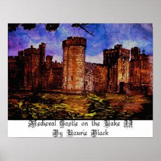 Castelo medieval no lago II Impressão