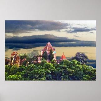 castelo medieval impressão
