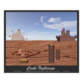 Castelo Nightscape Pôster