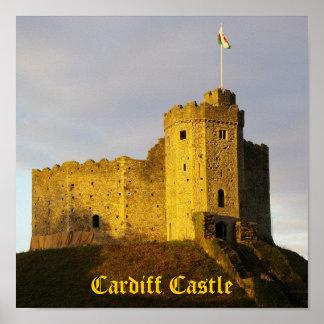 Castelo no por do sol posteres