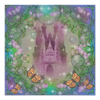 Castelo no rosa poster perfeito