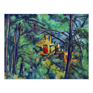 Castelo Noir por Paul Cezanne Poster