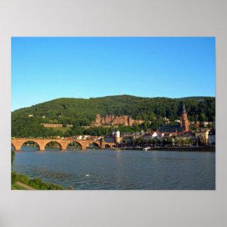 Castelo romântico de Heidelberg Poster