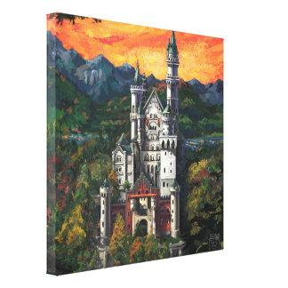 Castelo Schloss Neuschwanstein Impressão Em Canvas