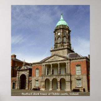 Castelo torre de pulso de disparo de Ireland de Du Poster