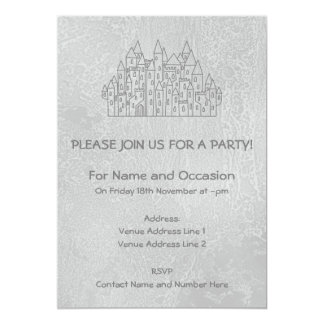 Castelo velho convite 12.7 x 17.78cm