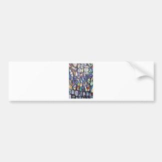 Casulos coloridos (expressionism abstrato) adesivo para carro