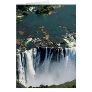 Cataratas Vitória, Zâmbia à beira de Zimbabwe. Cartão