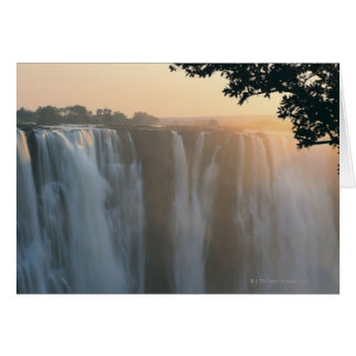 Cataratas Vitória, Zimbabwe, África Cartão