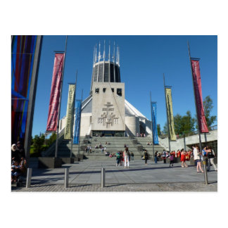 Catedral católica - Liverpool Cartão Postal
