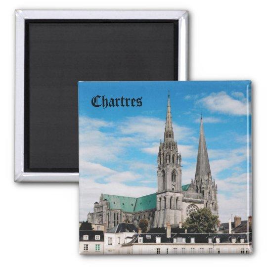 Catedral de Chartres Ímã Quadrado