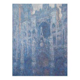 Catedral de Rouen, dia claro por Claude Monet Cartão Postal