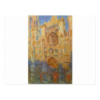 Catedral de Rouen por Claude Monet Cartão Postal