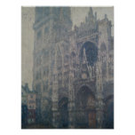 Catedral de Rouen, portal ocidental, tempo cinzent Poster