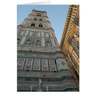 Catedral do domo, Florença, Italia Cartão Comemorativo