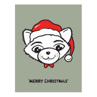 CATmas alegre todos - gato do Feliz Natal Cartão Postal