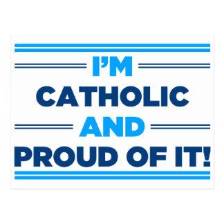 Católico orgulhoso cartao postal