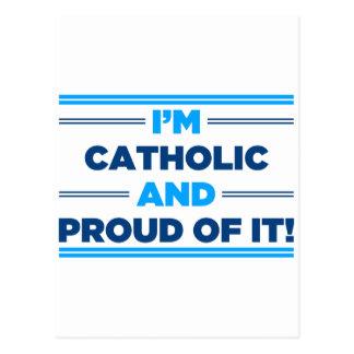 Católico orgulhoso cartão postal