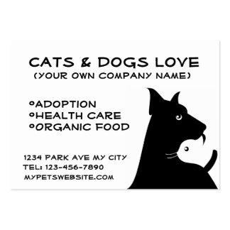 Cats & dogs business cartão de visita grande