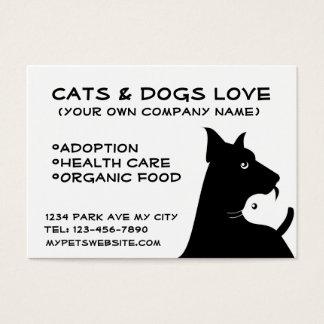 Cats & dogs business cartão de visitas