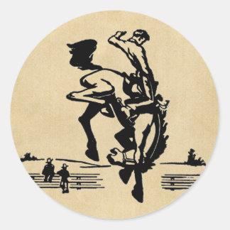 Cavaleiro Bucking do bronco Adesivo